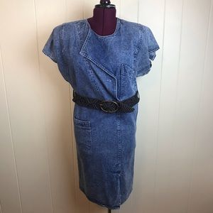 Vintage 80s/90s Denim Shift Dress